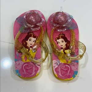 Disney Belle Flip flop shoes size 7/8. BNWOT